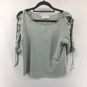 Anthropologie Elodie Seafoam Green Crop Top NWOT